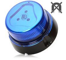 Maják modrý kryt, 8 modů, W112, kabel 3m