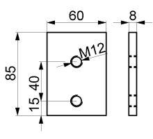 Deska závitová do spojek (rohů) - gzink