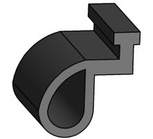 Těsnění bočnice 400mm, černé  (22141E)