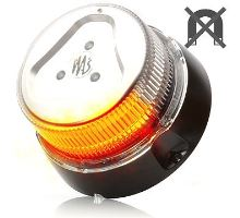 Maják oranžový čirý kryt, 1 mod, W126,  kabel 3m