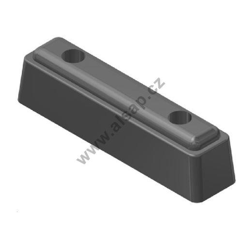 Nárazník gumový 215x50x54mm - černý