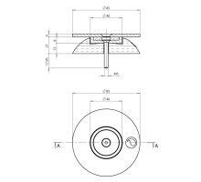 Aretace magnetická s dorazem pro boční dveře, nerez a guma