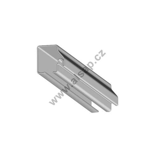 Ocelový vodící profil 7500 x 40 x 50 mm, pro těsnění
