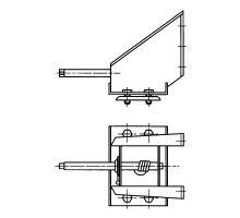 Držák rezervy 10 děr, rozteč 335mm, ocel/šedý lak