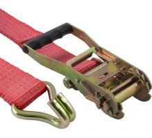 Popruh upevňovací s ráčnou 50mm, 0,4+7,6m  EN 12195-2 - červená