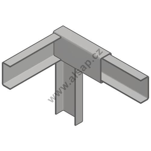 Horní spojka plachtové konstrukce PP pro 65, 30 x 60 mm,zn