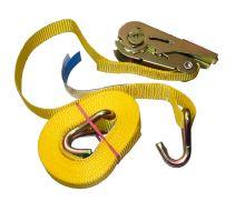 Popruh upevnovací s ráčnou 25mm, 0,5+4,5m EN 12195-2, síla v tahu 160 daN žlutá