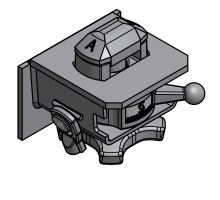 Zámek výměnné nástavby S komplet, o 38 mm, se zajížděcím protikusem