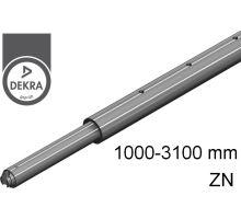 Tyč rozpěrná ZiN, o42mm, alSap-Line,  1000 - 3100 mm (o19/o24/U9mm) 500 daN DEKRA