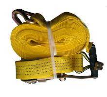 Pás upevňovací žlutý 50mm, ráčna R50E1,hák/hák 5002,délka 0,5 + 7,5 m, 2000 daN