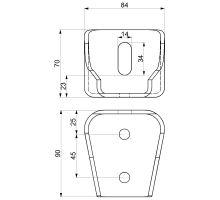 Konzole 90 mm FD universální, žárový zinek