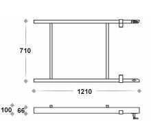 Ocelový rám pro výsuvné schůdky 1210mm, žzink