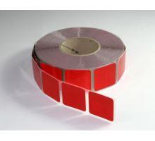 Reflexní páska segment. červená na plachtu, 50m