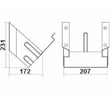 Držák zakládacího klínu 207mm, pro klín 550011,12, žz