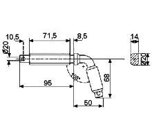 Kolík zajišťovací o 60mm, typ 1, serie 3000