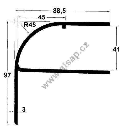 Profil střechy uni/41/8000 mm, 4250731800