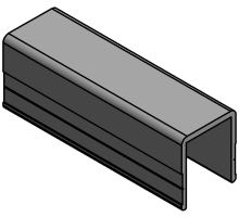 Profil lemu U 25 x 35 mm - hliník