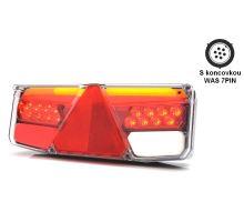 Zadní sdružené světlo LED dynamické W170DD L, 350 x 131 x 81 mm, VLEK