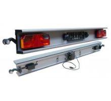 Nárazník zadní 2400 mm, komplet s osvětlením ASPOCK ASS3 a koncovkami , elox