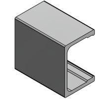 Pomocný rám C, 90 mm, zesílený HD, Elox, 6500