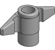 Závěr vrat boxer PWP o18mm,  ND - horní vidlička