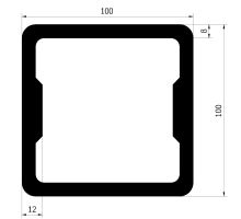 Profil 100 x 100 mm
