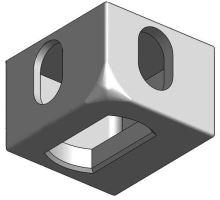 Kontejnerový rohový prvek spodní PP, ZL, ISO 1161