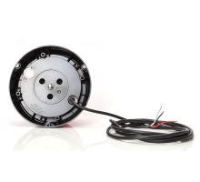 Maják červený kryt, 8 modů, W112, kabel 3m