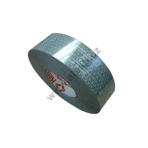 Reflexní páska samolepící bílá - plachtový povrch, 50m