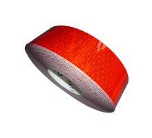 Reflexní páska samolepící červená - plachtový povrch, 50m