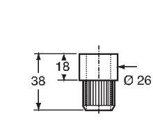 Objímka tyče o 16 mm, pro zadní vrátka