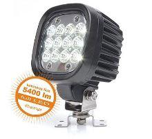 Pracovní světlo 12 LED 5400 lm  / 62W, W130 - rozptýlené, al černé s držákem, 110 x 110 mm