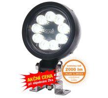 Pracovní světlo 9 LED 2000 lm / 19,8W, W163 černý hliníkový kryt, o 108, h 46 mm, NEW