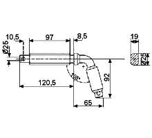 Kolík zajišťovací o 80mm, typ 1, serie 3000
