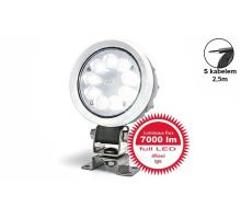 Pracovní světlo 9 LED 7000 lm / 66W - rozptýlené, W162 hliníkový kryt, o 108, h 76 mm, NEW