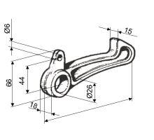 Hák Automatický uzávěr zadní bočnice