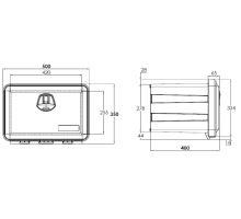 Bedna na nářadí JUST 41l, 500x350x400mm, bez držáků