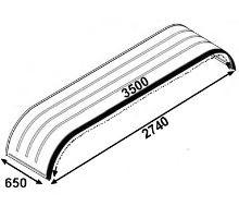 Blatník tandem 650x3500x2740mm - Zn/guma