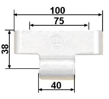 Pant bočnice ložisko-HESTAL 6552N Zn, malý osa 38 mm