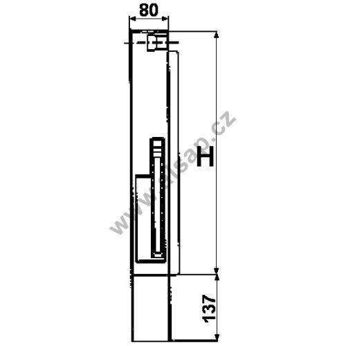 Sloupek sklápěče S44 přední L,800 / 80 mm