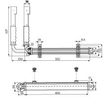 Aretace páková, elox/ zn , 337x502mm GTO