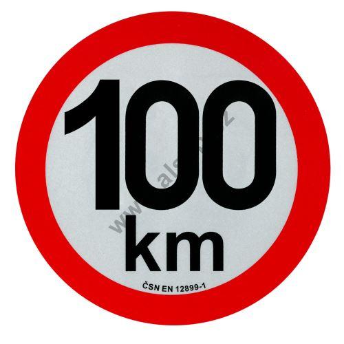 Reflexní tabule rychlost  o 200 mm, samolepka, ČSN EN 12899-1