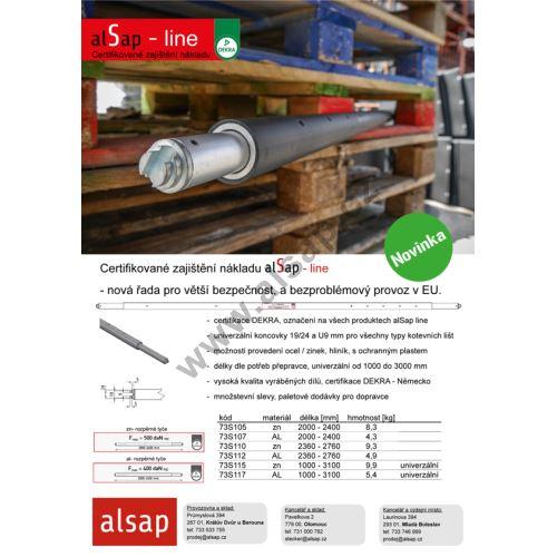 alSap line - rozpěrné tyče