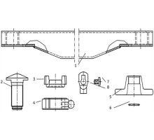 Nosník výměnné nástavby 200x100 bez děr, bez rolen