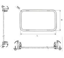 Okno pevné 500x400mm