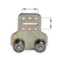 Vozík plachty dvojitý pro ocelový vodící profil o 19 mm,24x25 325075, zn