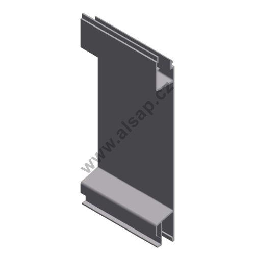 Profil plachtový 200 mm p, - hliník