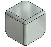 Kryt rohu skříně 105mm - nerez, pro profil 85, R10