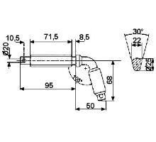 Kolík zajišťovací o 60mm, typ 2, serie 3000