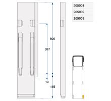 Sloupek zadní pravý kinnegrip ZN 500/120 mm